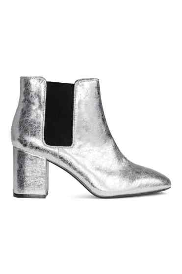 silver boots